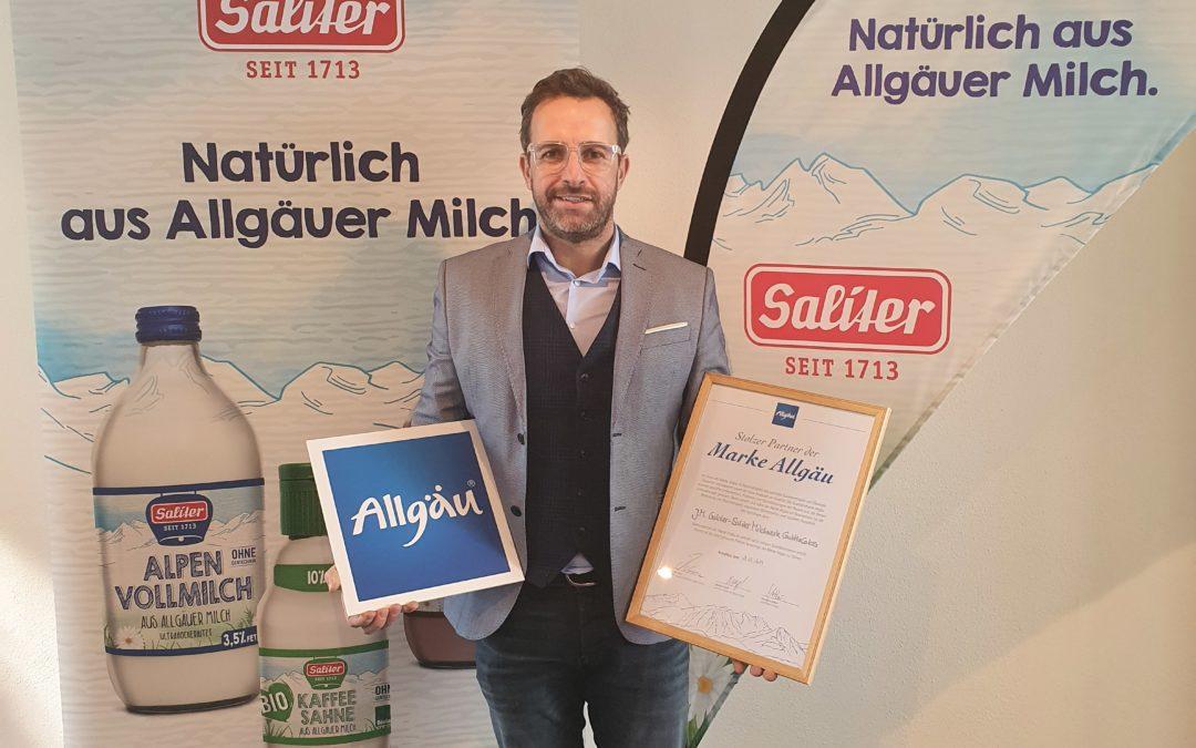 Stolzer Partner der Marke Allgäu
